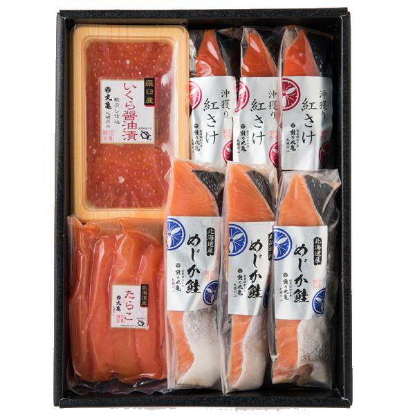 さしみ鮭めじかと紅さけの魚卵詰合せ